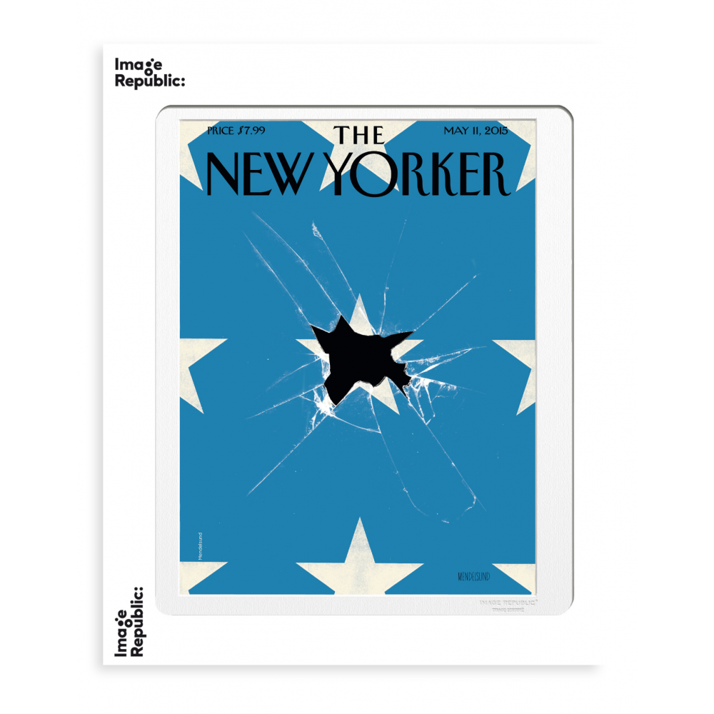 185 MENDELSUND BROKEN FLAG WITH STARS
