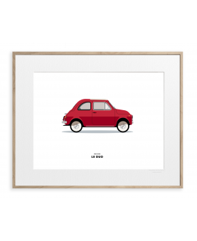 VOITURE FIAT 500 ROUGE