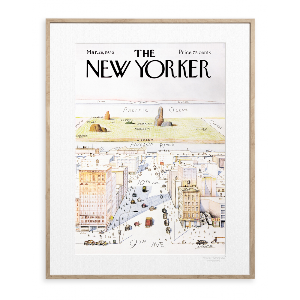 affiche the new yorker 07 steinberg. Black Bedroom Furniture Sets. Home Design Ideas