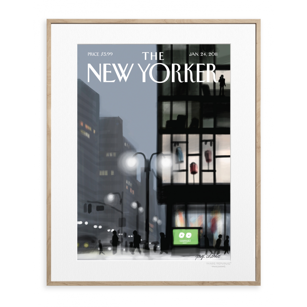 The New Yorker Poster Colombo Lampadaire