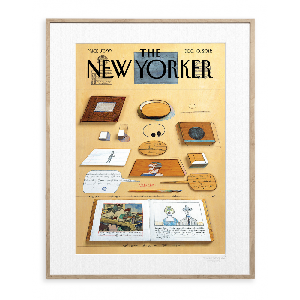 affiche the new yorker 26 steinberg bureau. Black Bedroom Furniture Sets. Home Design Ideas