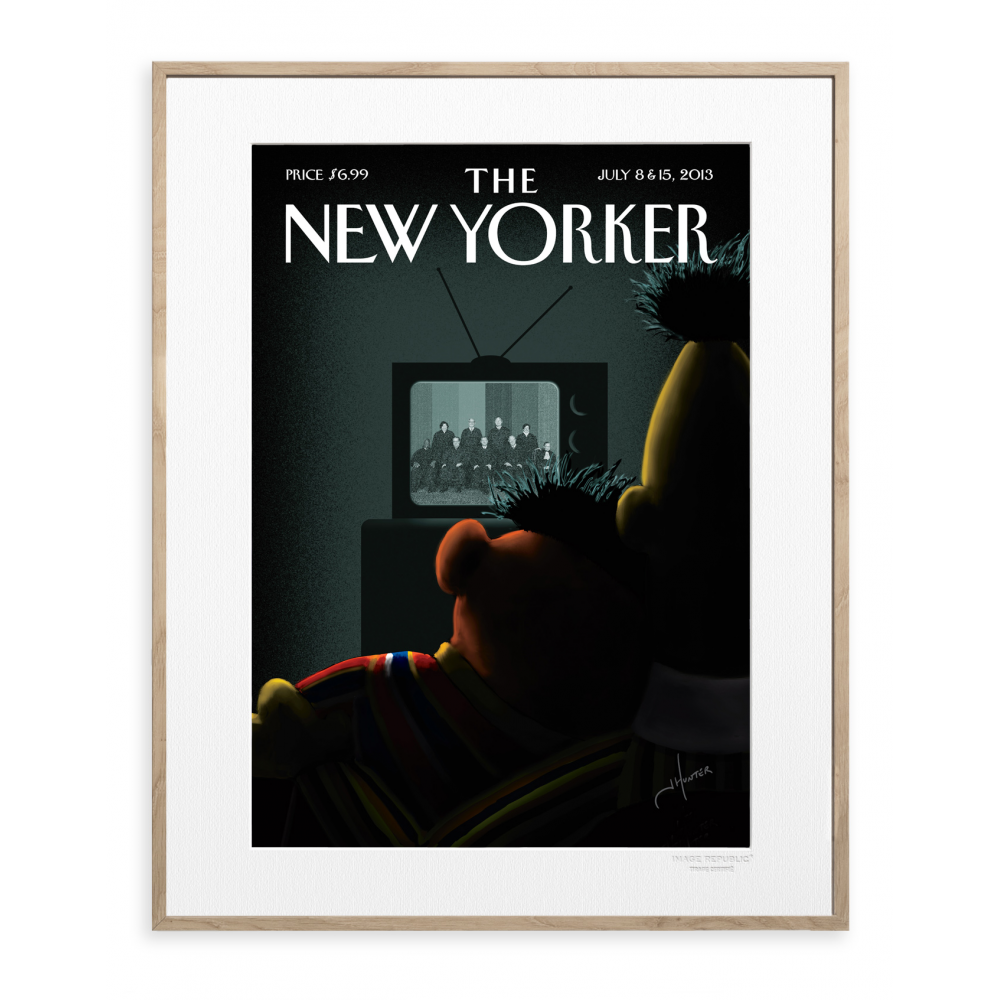 affiche the new yorker hunter tv. Black Bedroom Furniture Sets. Home Design Ideas