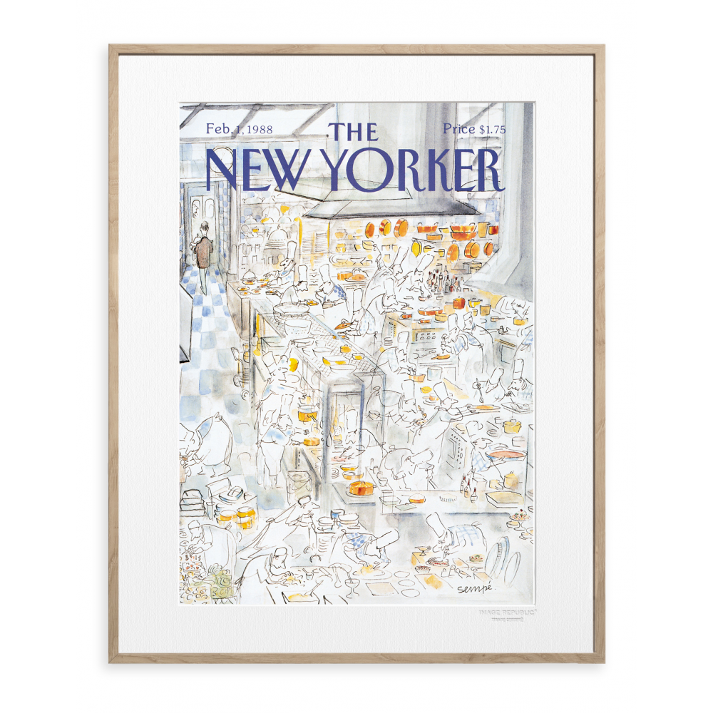 affiche the new yorker 42 sempe restaurant. Black Bedroom Furniture Sets. Home Design Ideas