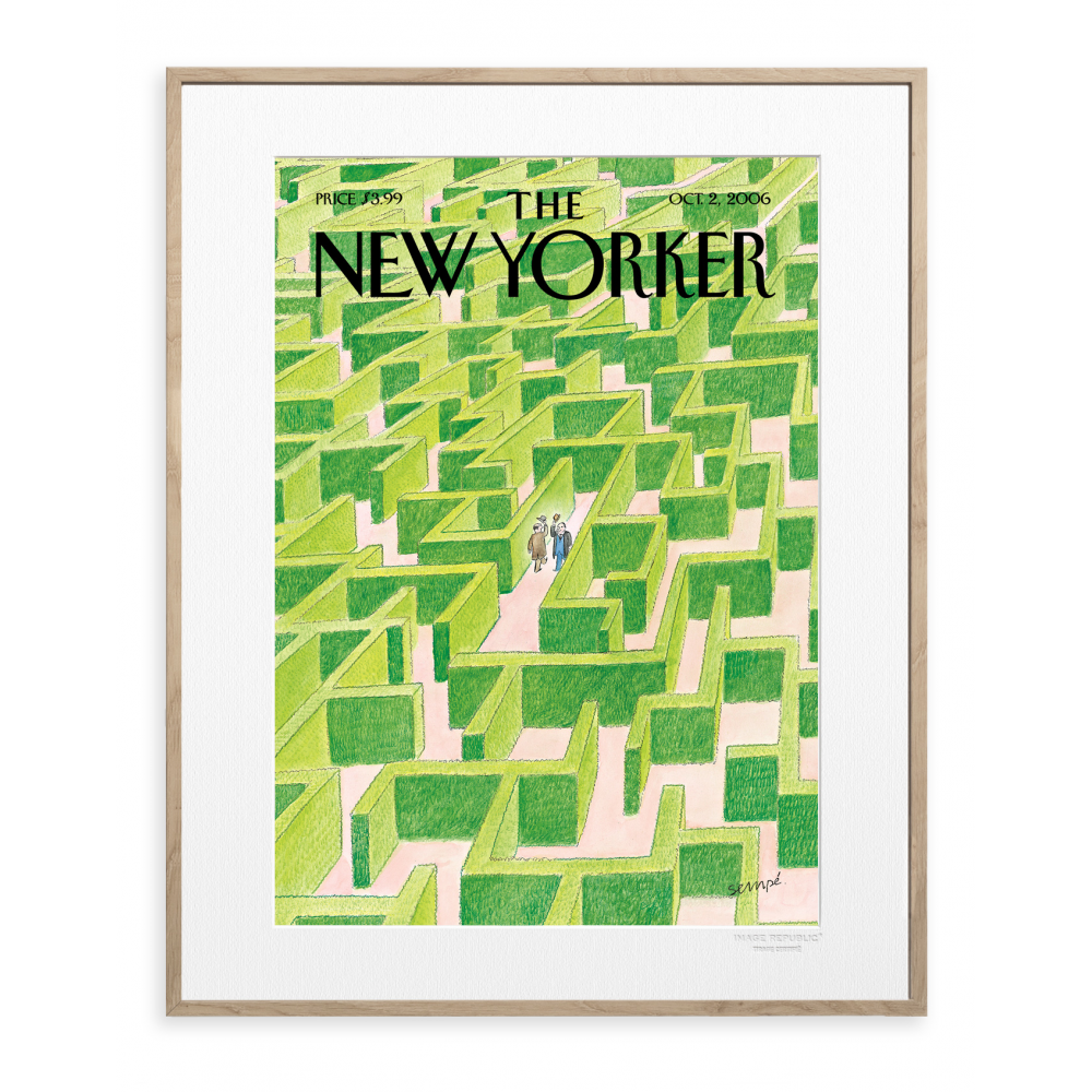 affiche the new yorker 51 sempe labyrinthe. Black Bedroom Furniture Sets. Home Design Ideas