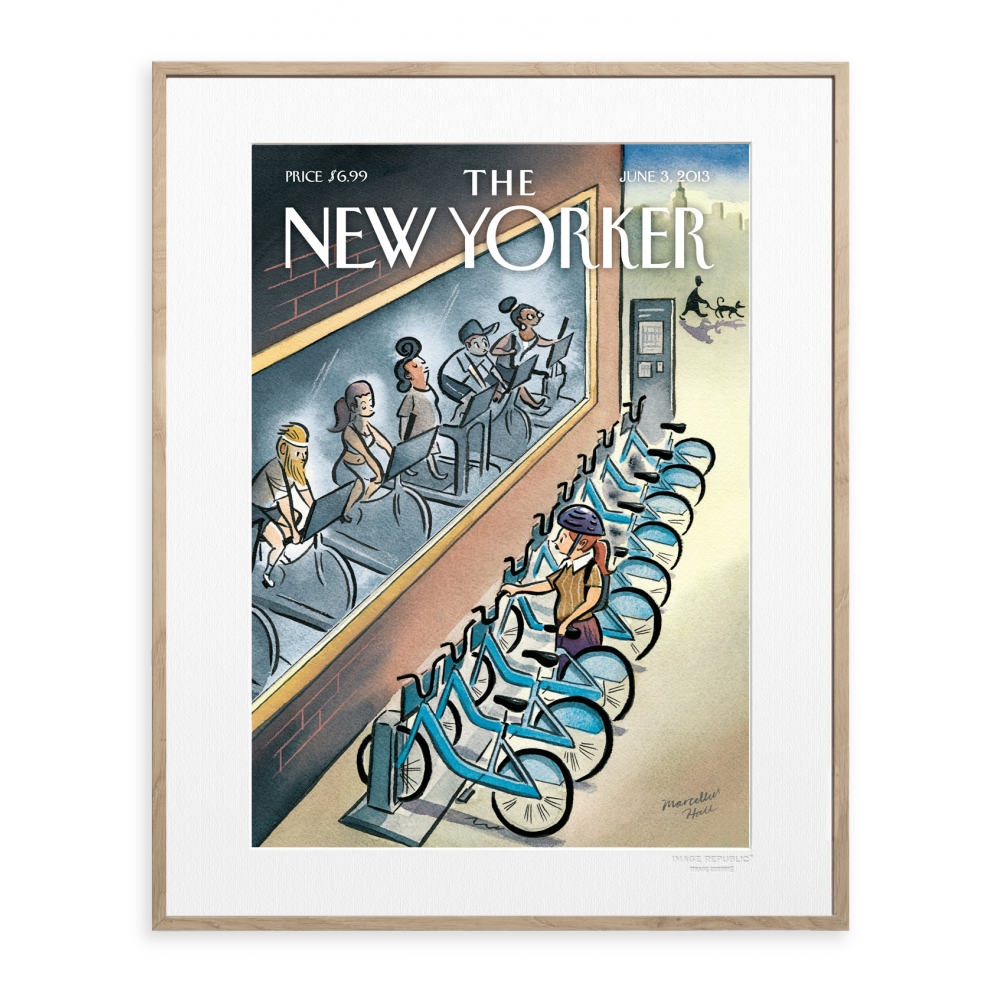 affiche the new yorker 54 hall velo. Black Bedroom Furniture Sets. Home Design Ideas