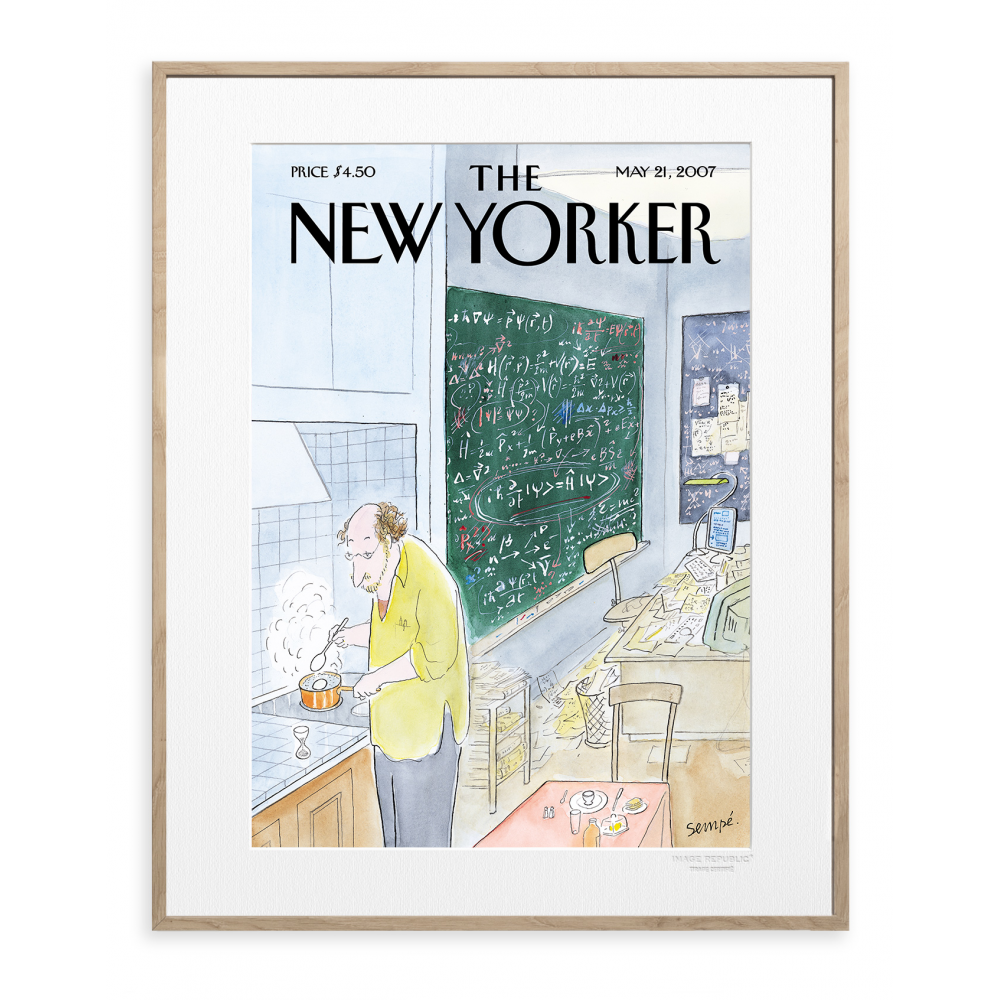 affiche the new yorker 70 sempe simple physics 2007. Black Bedroom Furniture Sets. Home Design Ideas