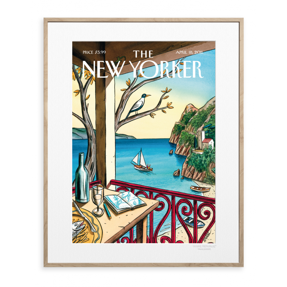 affiche the new yorker de loustal drawing waiting. Black Bedroom Furniture Sets. Home Design Ideas