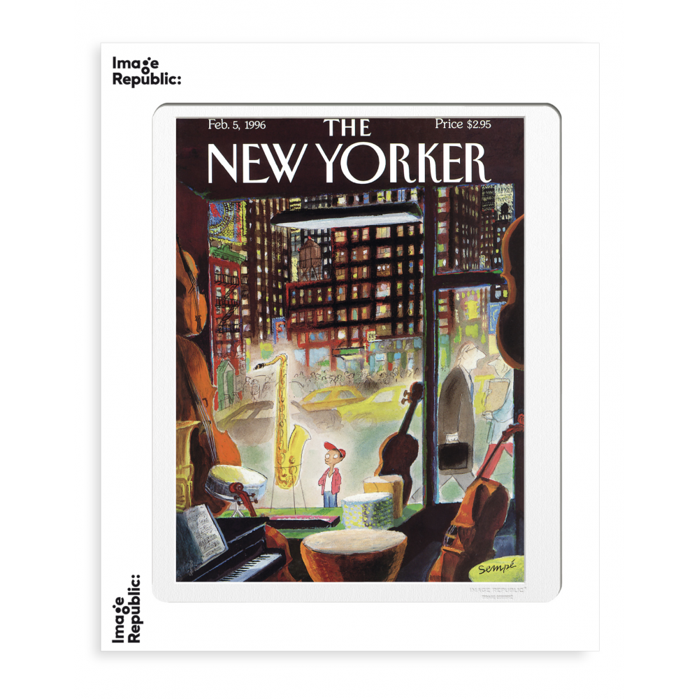 THE NEWYORKER 62 SEMPE THE BOY SAXOPHONE 1996