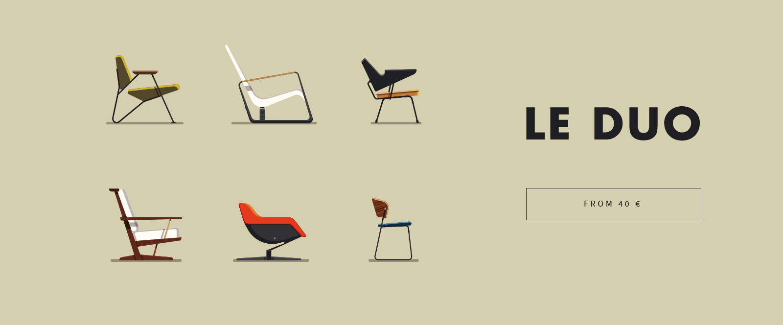 Flat design by LE DUO